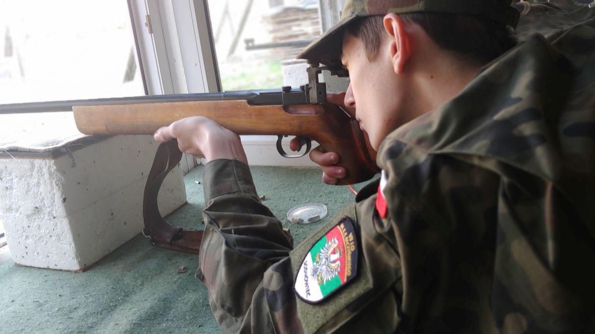 Klasy mundurowe na strzelnicy